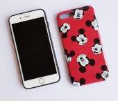 I Phone 7 Plus - 8  Plus Red Micky Telefon Kılıfı