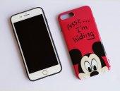 I Phone 7 Plus - 8  Plus Red Micky Mouse Telefon Kılıfı