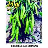 Biber Tohumu Aşağıbakan Yeşil Süs 25g (Takribi 2000 Tohum)