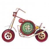 Motorsiklet Temalı Metal Duvar Saati Dev Boyut Kırmızı