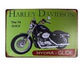 Dekoratif Vintage Metal Pano Harley Motor 20x30-2