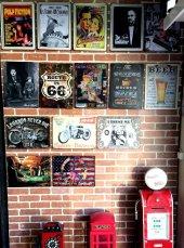 Dekoratif Vintage Metal Pano Harley Motor 20x30-3