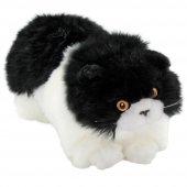 Animals Of The World Siyah Beyaz Yatan Kedi Peluş Oyuncak 26 cm-2