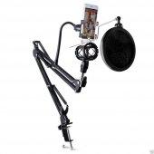Profesyonel Stüdyo,youtuber Mikrofonu Standı,mikro...
