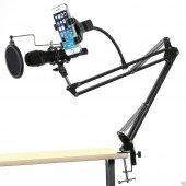 Profesyonel Stüdyo,Youtuber Mikrofonu Standı,Mikrofon Pop Filtre-8