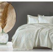 Cotton Box Jakarlı Yatak Örtüsü Terra Mint
