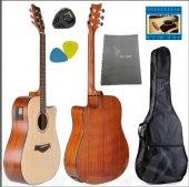 Elektro Akustik Gitar Seti Winzz Af485ce Maun 4 Band Tunerli