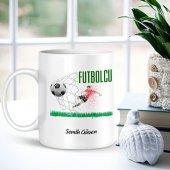 Kişiye Özel Mesleki Futbolcu Beyaz Kupa Bardak...