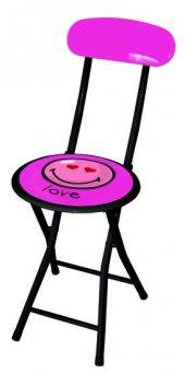 Smiley Pembe Sandalye