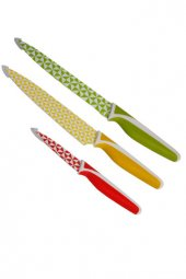 Biggkitchen Desenli 3lü Bıçak Seti