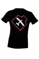 Thk Design Uçak Baskılı Siyah T Shirt