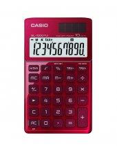 Casıo Sl-1000Tw-Rd Cep Tipi 10 Hane Hesap Makinesi Kırmızı ,Metal Yüzey, Bağımsız Hafıza ,Vergi Ve Saat Hesabı , Yüzde ,+,Cüzdanlı ,Pil+Solar