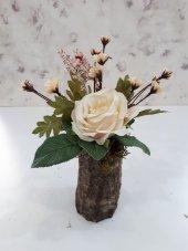 Yapay Çiçek 2 Adet Şakayık Gül Tanzim Ağaç Tanzim