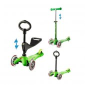 Micro Mini 3 in 1 Deluxe Green Scooter MMD010