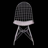 Evform Oval Tel Sandalye Mutfak Bahçe Ofis Sandalyesi-3