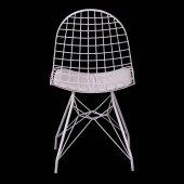 Evform Oval Tel Sandalye Mutfak Bahçe Ofis Sandalyesi-5