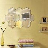 Altıköşe Altıgen Geometrik Hexagon 3mm Akrilik 18x16 Duvar Aynası-8