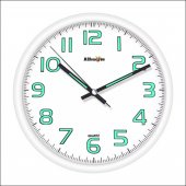 White Frame Beyaz Fosforlu Phosphorous Wall Clock Duvar Saati