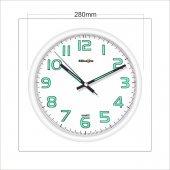 White Frame Beyaz Fosforlu Phosphorous Wall Clock Duvar Saati-2