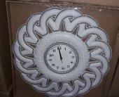 Fas Osmanlı Çiçek Motifli Desenli Akrilik Çok Taşlı Duvar Saati