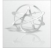 60x52cm Ateist Ateizm Temalı Logo Simge İkon Tattoo Duvar Aynası-3