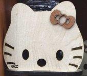 Restoran Lokanta Sevimli Kedili Ahşap Peçetelik Kağıt Mendillik