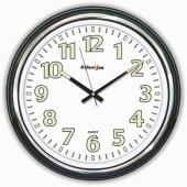 47cm Ebat Kalın Kasalı Büyük Fosforlu Rakamlı Camlı Duvar Saati-3