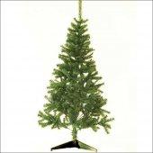 Bol Süslü 180 cm Uzun Gerçek Gibi Yeşil Gür Yılbaşı Çam Ağacı-2