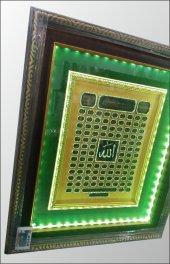 Ledli Işıklı Çerçeveli Esma-ül Hüsna Allah ın 99 Adı Pano Tablo-5