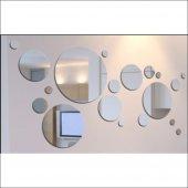 19 Parça Daireler Formunda Hazırlanmış Dekoratif Ayna