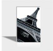 60x90 Cm Siyah Beyaz Eyfel Canvas Tablo