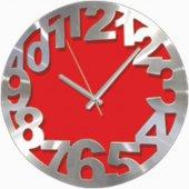 Kırmızı Alüminyum Kalın Kadran Time Duvar Saati
