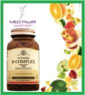 Solgar Vitamin B Complex 50 Mg 50 Bitkisel Kapsül High Potency