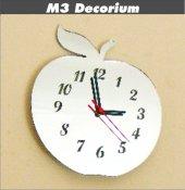 M3 Decorium Elma Dekoratif Ayna Saat