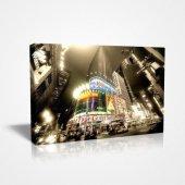 30x45cm New Yorkun Ünlü Time S Square Canvas Tablo