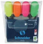 Schneider Fosforlu Kalem İşaretleme Kalemi 4 Renk
