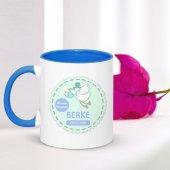 Kişiye Özel Erkek Bebek Mavi Kupa Bardak 001