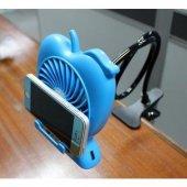 Şarj Edilebilir Telefon Tutacaklı Askılı Fan-3