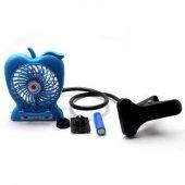 Şarj Edilebilir Telefon Tutacaklı Askılı Fan-4