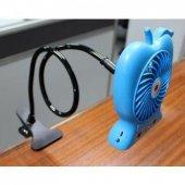 Şarj Edilebilir Telefon Tutacaklı Askılı Fan-5