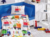 Cotton Box Bebek Uyku Setı Şantiye Mavi