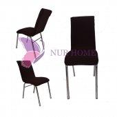 Lastikli Sandalye Kılıfı Koyu Kahve Mutfak Tipi M2 (Renk 2)