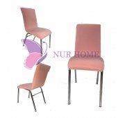 Lastikli Sandalye Kılıfı Somon Mutfak Tipi M2 (Renk 27)