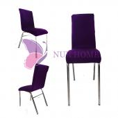 Lastikli Sandalye Kılıfı Mor Mutfak Tipi M2 (Renk-10)
