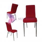 Lastikli Sandalye Kılıfı Kırmızı Mutfak Tipi M2 (Renk 6)