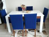 Nur Home Saks Mavi Sandalye Kılıfı (Renk-4)-2