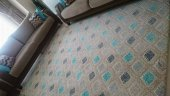 Nur Home Turkuaz Yağmur Damlası Welsoft Lastikli Halı Örtüsü-3