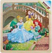 Disney Princess 16 Parça Ahşap Kare Puzzle (Köprü)