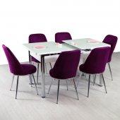Masa 6 Sandalyeli Yemek Masası Seti Masa Takimi
