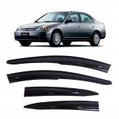 Otom Honda Civic Sedan 2001-2007 Mugen /4 PCS Cam Rüzgarlığı-2